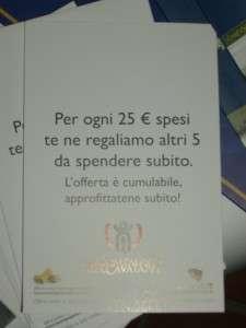 Per ogni 25 € spesi te ne regaliamo altri 5 da spendere subito