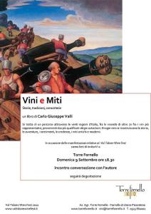 Locandina Val Tidone Wine Fest Vini e Miti Carlo Giuseppe Valli