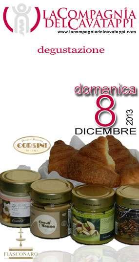 Degustazione Cornetti Corsini con Creme Oro di Fiasconaro alla enoteca La Compagnia del Cavatappi