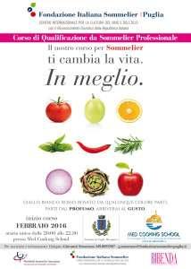 Il corso è organizzato dalla Fondazione italiana sommelier - Puglia e prevede cinquantadue incontri, materiale didattico di 7 Testi e 3 Quaderni, una degustazione di 144 Vini tra i regionali e i più grandi del mondo, due cene e una visita in azienda.