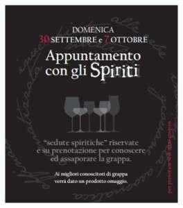 Appuntamento con gli Spiriti